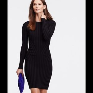 NWOT Ann Taylor Black Ribbed Sweater Dress